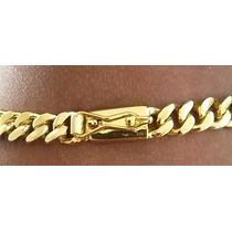 Cordão 70cm + Pulseira Banhados A Ouro - Elos Soldados