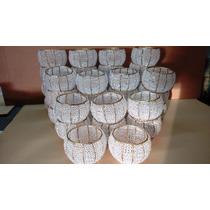 Vasos Com Pedrarias Centro De Mesa-25 Pç-pé Resina