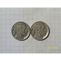 Estados Unidos 5 Centavos Bufalo 1930 Y 1934