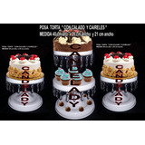 Set-un Porta Torta Doble , De Metal,dos Posa Torta Simple