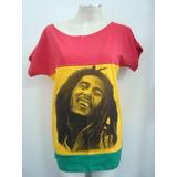 Blusinha Gola Canoa - Bob Marley - 3 Cores