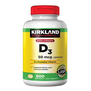 Vitamina D3 50 Mcg - 2000 Ui - 600 Cápsulas Importado