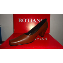 Zapato De Dama Tacón Medio,marca Botiano