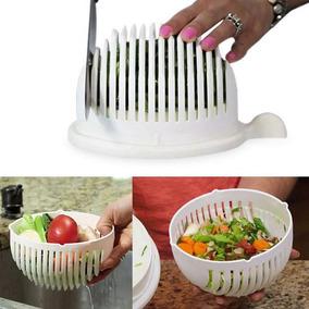 Salad Cutter Bowl Cortador Fatiador De Salada Seguro Chef