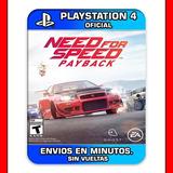 Need For Speed Payback Ps4 :: Digital :: Envios En Minutos