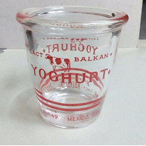 Antiguo Envase De Cristal Balkan Lact México D.f