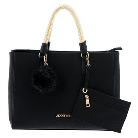 Bolsa Negra Casual Elegante Mujer Marca Jennyfer 8017-1
