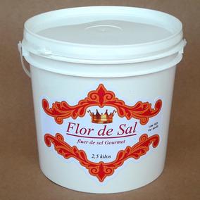 Flor De Sal Gourmet Balde 2,5 Kg 30% Menos Sódio