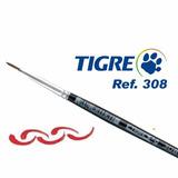 Pincel Tigre 308 Pêlo De Marta Super Fino Tam.2/0 (00)