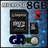 Micro Sd 8gb Kingston + Sd Gratis Para Camaras Digitales