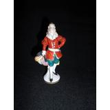 Antigua Mini Figura Porcelana Caballero Con Sombrero (2067x)