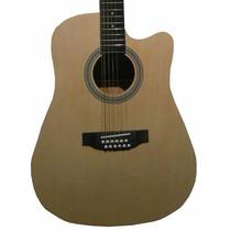 Guitarra Docerola Electroacustica 12 Cuerdas Natural / Negra