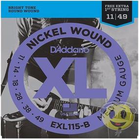 Cordas Guitarra Daddario Exl115 B 011 + Mi Brinde Kadu Som