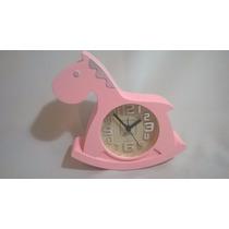 Reloj Pony Despertador Infantil. En Caja. Lupetoys