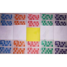 Cartones Bingo X 2016 X 10 Series De Loteria Descartables