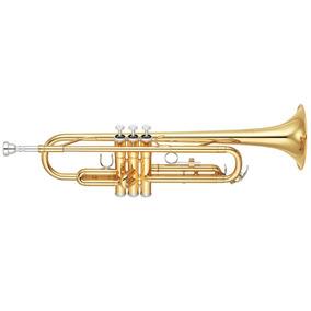 Trompete Yamaha Ytr2330 Laqueado Dourado 2 Gatilhos Com Esto