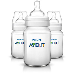 Teteros Philips Avent Anti-colicos Clear 9oz Y 4oz Onzas