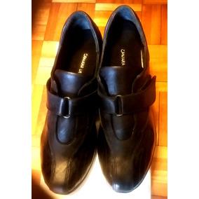 Zapato 39. Línea Confort. Taco Chino. Cuero,charol Botello