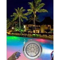 Luminária De Piscina Luz Rgb 15w Super Led Com Controle