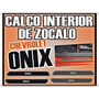 Calcos Chevrolet Onix Zocalo Interior De Puerta