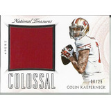 Colin Kaepernick 2015 National Treasures 49ers Jersey /25