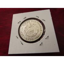 Moneda Del Mundo Plata Guatemala 1963 25 Centavos