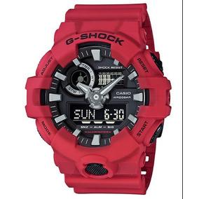 Relogio Casio G-shock Ga-700-4 Vermelho Ga700 Lançamento !!!