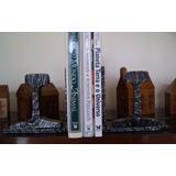 Aparador Livros Bookend Trem Trilho - Vintage Industrial