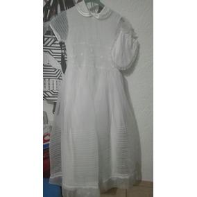 Vestido Para Primera Comunion Talla 12 Color Blanco