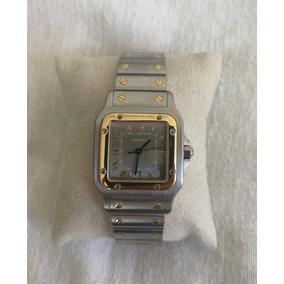 Reloj Cartier Santos Oro-acero 1566 Movimiento Cuarzo