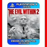 The Evil Within 2 Ps4 Estreno Mundial | Envios En Minutos