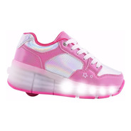 Zapatillas Con Ruedas Luz Led Para Patinar Footy Mundomanias