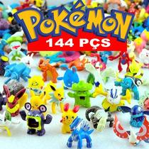 Kit Coleção Miniaturas Pokémon 144 Bonecos