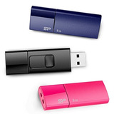 Pendrive Silicon Power 8gb 3-pack Ultima U05 Usb 2.0 Flash