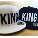 Gorra Plana Hip Hop Swag King Queen Dogg Life
