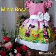 Vestido Minie Rosa Temático