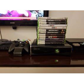 Combo Xbox 360 Elite 250gb + 2 Controles +12 Jogos Originais