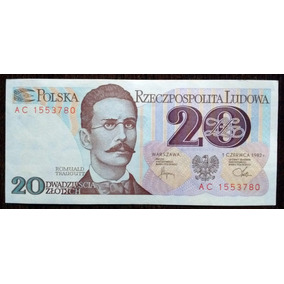 Billete 20 Zlotych Polonia 1982 Unc Sin Circular