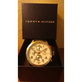 Relógio Tommy Hilfiger Pulseira Couro Preto Com Cronografo