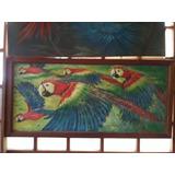 Pintura De La Selva: Sixto Saurin Pua - Shamiros (loros)
