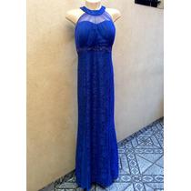 Vestido Longo Festa Madrinha Casamento Azul Royal