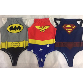 Body Fantasia Carnaval Herois Batman Supergirl Maravilha