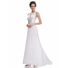 Vestido Novia Fiesta Largo Blanco Talla 12 Ne 05