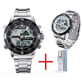 Relógio Masculino Weide Analogico/ Digi + Brinde