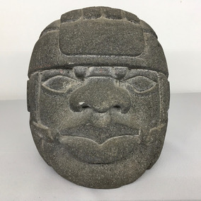 Cabeza Olmeca En Piedra De Cantera