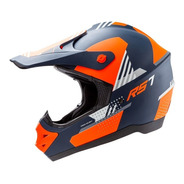 Casco Moto Motocross Hawk Rs7-f Naranja Negro Solomototeam