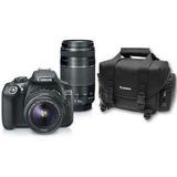 Cámara Canon T6 Kit Dos Lentes 18-55mm 55-250mm