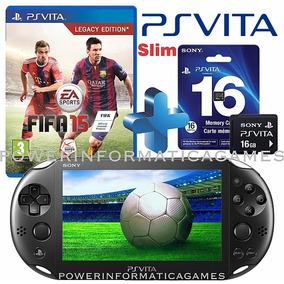 Ps Vita Sony Psvita Slim Wifi + Jogo Fifa 15 Original + 16gb
