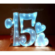 Numero Iluminado En 25 Cm Polyfan Tunombre Con Luces Luz