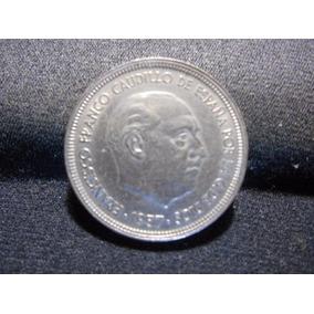 Moeda 50 Pesetas 1957 Espanha Sob/fc - Perfeita Sem Mossas